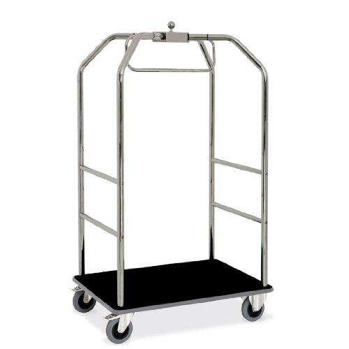 ETERNASOLID® Kleider- und Gepäckwagen verchromt, Teppich-Schwarz, Länge 108cm