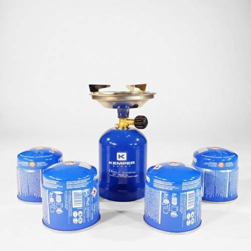 Hornillo de gas de metal Kemper – Incluye 4 cartuchos de gas de 190 g