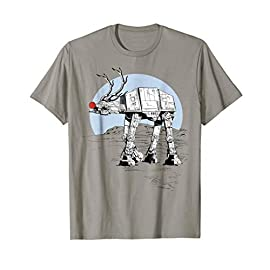 Star Wars Rudolph ATAT Walker Christmas Graphic T-Shirt 11 12STW378C Officially Licensed Star Wars Apparel Lightweight, Classic fit, Double-needle sleeve and bottom hem