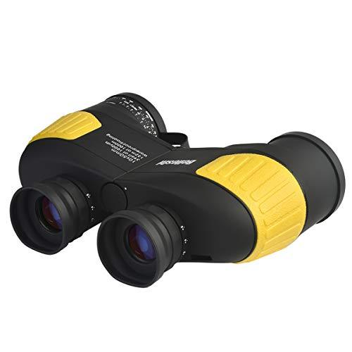 ZUZEN 7X50 HD Impermeable prismáticos Marinos con brújula para la navegación brújula para la navegación, Paseos en Barco, Pesca, Deportes acuáticos, Caza