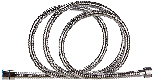 Roca A5B2616C00, Flexible Metálico Anti-torsión Universal, Cromado, 2 m