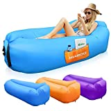 SEATIGER Inflatable Lounger Air Sofa Hammock Portable,Water Proof& Anti-Air Leaking Design-Ideal Couch for Backyard Lakeside Beach Traveling Camping Picnics & Music Festivals