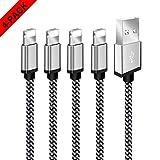 VIVK Cargador Phone - 1//1//2//2//3 M (Blanco y Negro) 5 Piezas Nylon Cable Trenzado Duradero de Carga R/ápida Compatible con Phone XS//XR//X//8//8 Plus//7//6s//6Plus//6//Pad//Pod y m/ás