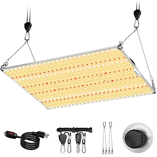 Abriselux LED Grow Light Dimmable with 4x4ft Coverage and Upgraded Larger Board, Full Spectrum Grow Lamps for Indoor Hydroponic Growing Light