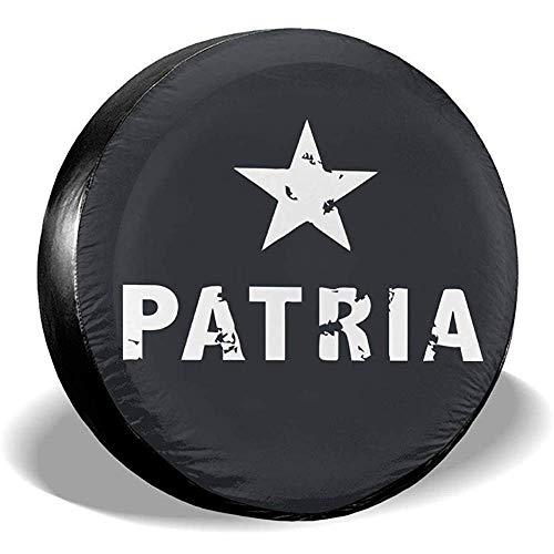 Spare Tire Cover-Puerto Rico Resiste Boricua Patria Reserverad-Reifenabdeckung wasserdichte Staubdichte Radabdeckungen Für Alle Autos(14-17 Zoll)