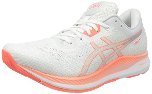 Asics Evoride Tokyo, Road Running Shoe Mujer, White/Sunrise Red, 40 EU