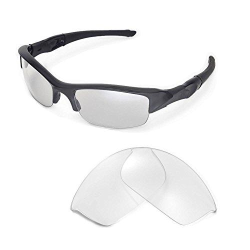 Walleva Ersatzgläser für Oakley Flak Jacket Sonnenbrille -Mehrfache Optionen (Klar)