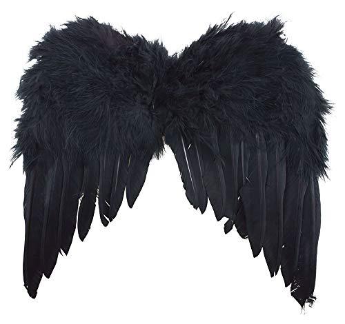 Das Kostümland Engelsflügel 35 x 32 cm - Schwarz