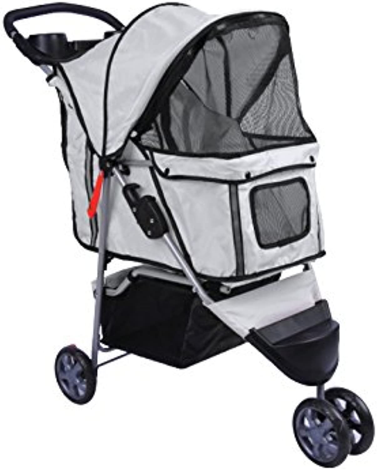 Bcelec  56630015Agrey Grey 3Wheeled pet Stroller