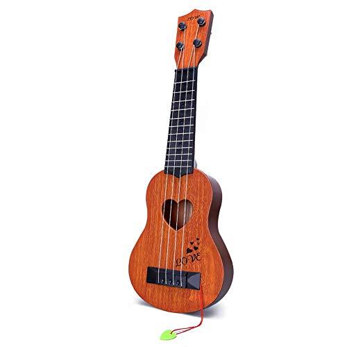 YEZI Kids Toy Classical Ukulele Guitar Musical Instrument, Brown