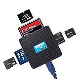 High speed - all in one usb 3. 0 card reader / writer - compatible with sd, sdhc, sdxc, micro sd, tf, cf, xd, m2 and sony memory stick pro duo card - for sony, panasonic, canon, fujifilm, olympus, pentax, kodak, jvc, minolta, samsung, nikon, casio, benq and ge digital camera - backward usb compatible - aaa productsâ®, [importado de uk]