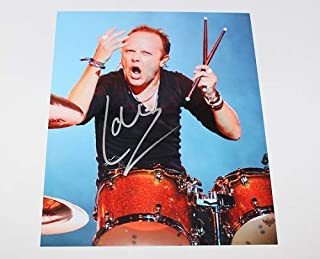 Metallica Ride the Lightning Lars Ulrich Signed Autographed 8x10 Glossy Photo Loa