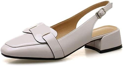 HommesGLTX Talon Aiguille Talons Hauts Sandales Nouvelle Arrivée Pompes Femmes Chaussures Douce Solide Parti Chaussures De Mariage Boucle Simple Chaussures D'été Chaussures à Talons Carrés