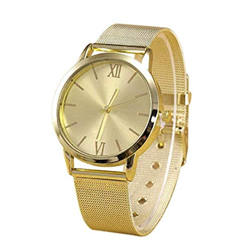 Kaitoly Fashion Watch! Fashion Gold Mesh Uhr Damen Gold Uhr Geneva Edelstahl Mesh Uhr, Gold