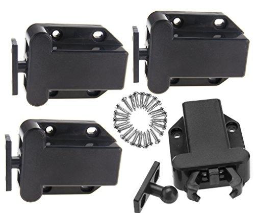 Touch-Schnappverschluss für Schrank-Schubladen, Drücken zum Öffnen, Türen bis zu 4kg, 4 Stück