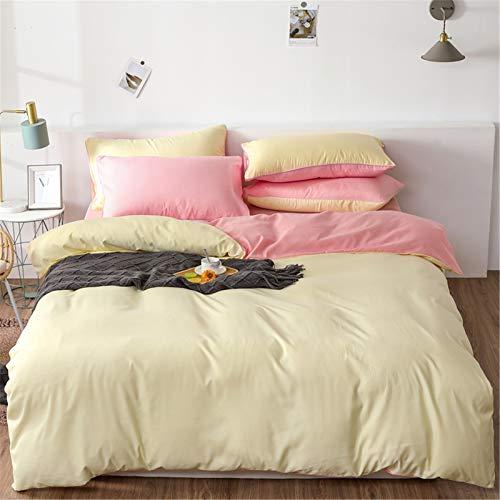 YYSZM Home Textiles Duvet Cover Bedding Simple Solid Color Atmospheric Fashion 4-Piece Set 200x230cm