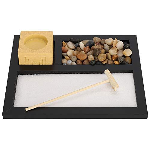 Fydun Juego de jardín Zen para el hogar, candelabro de Arena Zen para Uso en la Oficina en el hogar Decoración artística de Resina Colgante Artesanal de Regalo