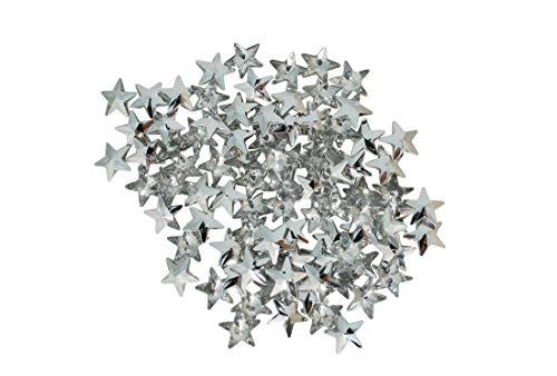 BOAHHH Rot/Silber Sterne, Streudeko. Sterne sind, wo wir sind! Verzaubern Sie Ihren Abend! (Silber)