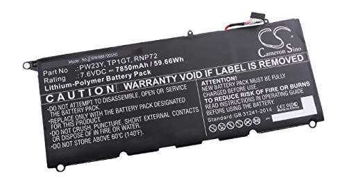 vhbw Battery compatible with Dell XPS 13-9360-D3705TG, 13-9360-D3901S, 13-9360-D3905S, 13-9360-D5505S Laptop (7850mAh, 7.6V, Li-Polymer)