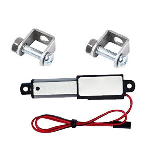 Actuador Lineal de 12V 30N Velocidad de 30 mm Longitud 30 mm Micro Mini eléctrico a Prueba de Agua con Soportes de Montaje para el Coche Auto