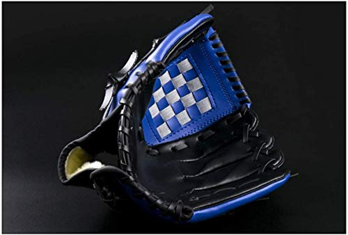 Wonninek Baseball Glove Soft Solid PU Leather Thickening Pitcher Softball Gloves for Kids Teens Adult Professional Baseball Mitt Catching (Blue, 11.5 inch)