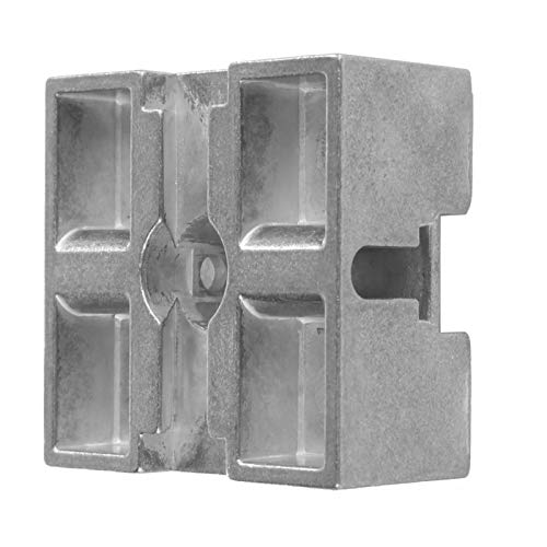 Elevador de bloques Elevadores de cama de aleación de zinc Elevadores de muebles de bloque central de metal Máquina herramienta Galvanoplastia para sofás para sillones 50x50mm