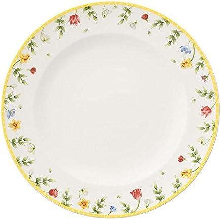 Preisvergleich für Villeroy & Boch Spring Awakening Speiseteller, 27 cm, Premium Porzellan, Weiß/Bunt