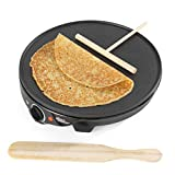 Giles & Posner® EK2510G Electric Crepe Maker | 30 cm/12 Inch Plate | 1300 W | Cook Delicious Sweet and Savoury Pancakes, Crepes and Galettes in Minutes