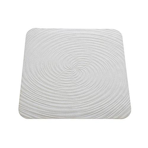 FERIDRAS Vortice Tappeto Antiscivolo, Gomma, Bianco, 2x22x64 cm
