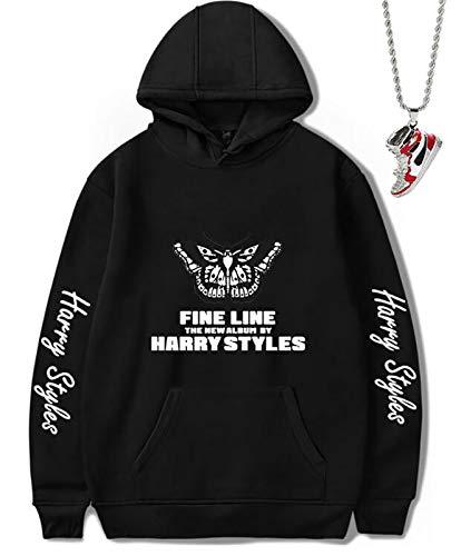 HFSKJWI Sweatshirt Hoodies/Kapuzen-Sweatshirt Hip Hop Casual Pullover Warm Hoodies Damen Herren Sport Sweater Fun Hoodie mit Halskette 5,XXXXL