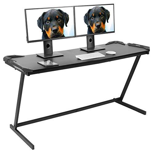 Escritorio para videojuegos, escritorio de ordenador en forma de Z, escritorio de oficina, estudio, escritorio, ordenador, portátil, estaciones de trabajo, mesa de comedor, mesa de