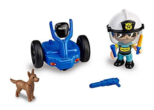 Pinypon Action- Segway vehículo de policía con 1 Figura, niñas a Partir de 4 a 8 años (Famosa 700015693)