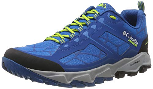 Columbia Trans Alps II, Zapatillas de Trail Running para Hombre, Azul (Dark Compass, Bright Green), 41 EU