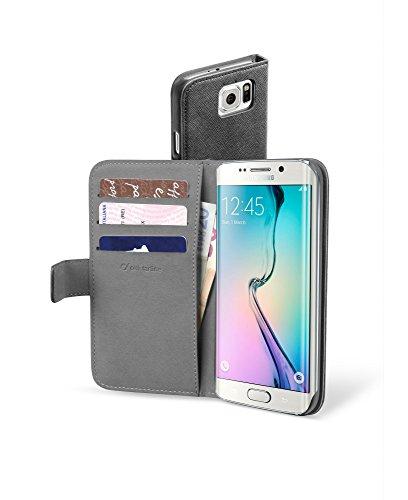 Cellular Line CBOOKAGENDAGALS6EK Schutztasche im Book-Style mit Leder-Effekt und mit Steckfächern fur Samsung Galaxy S6