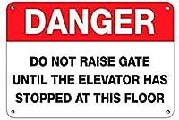 危険エレベーターが停止するまでGATEを上げない