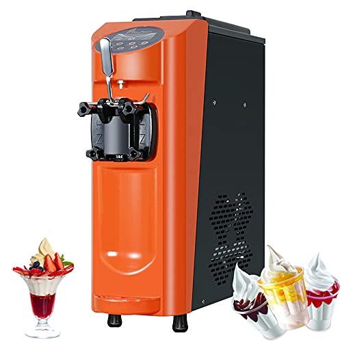 Máquina automática de helados 1000W Máquina de helados de escritorio Mini máquina de helados comercial con 16L/H, pantalla táctil LCD visual, 5L de gran capacidad
