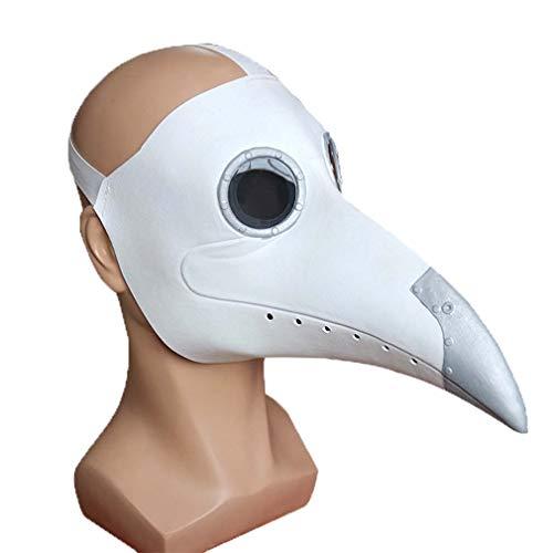EDECO Máscara de médicos de Peste con protección para los Ojos y Nariz Larga, Personalidad Moda Máscara de Bola de Halloween Suministros para Fiestas navideñas Accesorios de Cosplay,C