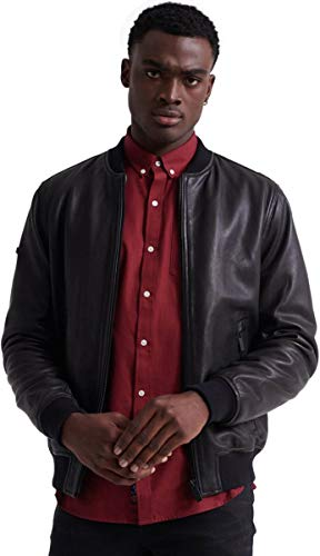 SUPERDRY Leather Flight Bomber