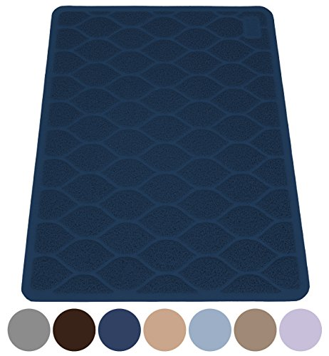 MIGHTY MONKEY Premium Cat Litter Trapping Mats, Phthalate Free, Best Scatter Control, Jumbo XL Sizes (47