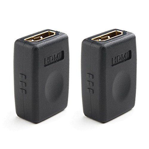 Cable Matters 2-Pack HDMI to HDMI Female to Female Adapter (HDMI Coupler) with 4K and HDR Support