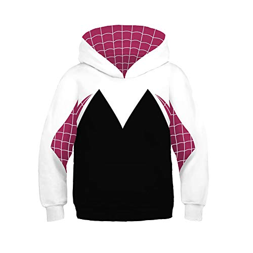 CrazyCatCos Unisex Toddler Kids Hoodie Jacket Superhero Halloween Cosplay Costume 4-12 Years Old (Gwen Stacy Kids B,XS(4T-5T/Fit for Height 105cm-115cm))