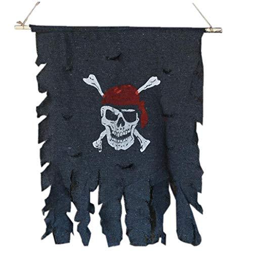 Lankater Tuch Hängend Flagge Schädel-Piraten-Flagge Partei-Dekoration Zu