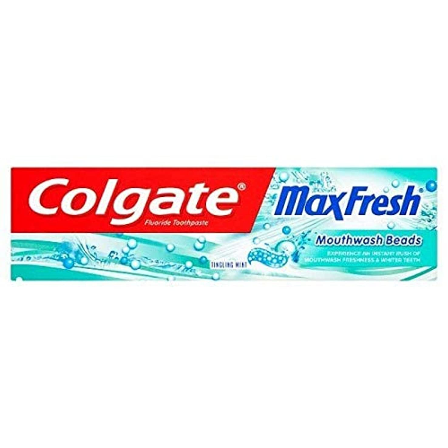権限魅惑的な染色[Colgate ] コルゲート最大の新鮮なビーズの歯磨き粉75ミリリットル - Colgate Max Fresh Beads Toothpaste 75ml [並行輸入品]