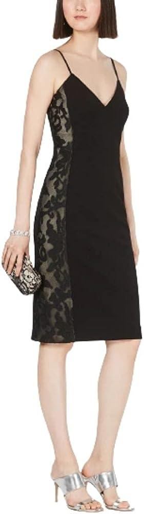 Vince Camuto Women's Lace Trim Sheath Dress, Black Size 2