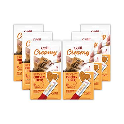 CatitCreamyLickableCat Treat, Healthy Cat Treat, Chicken & Liver, 30 Pack