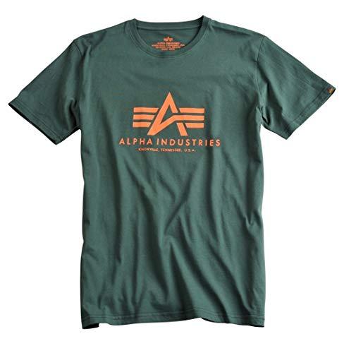 Alpha Industries Basic T-Shirt Dunkelgrün XS