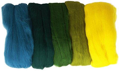 Rayher 5 bobines laine merinos 18 microns 5 à 10 g ton vert NEUF