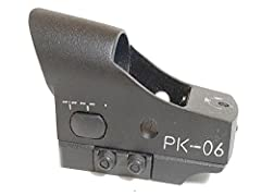 """Using """"heads-up display"""" (HUD) technology to superimpose a reticle pattern onto a filtered lens to provide precision CQB target acquisition. This system presents an unobstructed field of view, in 1x power which allows for extremely comfortable, """"both..."""