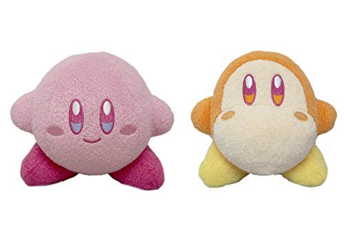 Little Buddy Set of 2 Kirby Adventure 25th Anniversary 1684 Small Kirby & 1686 Waddle Dee Plushes, 5'