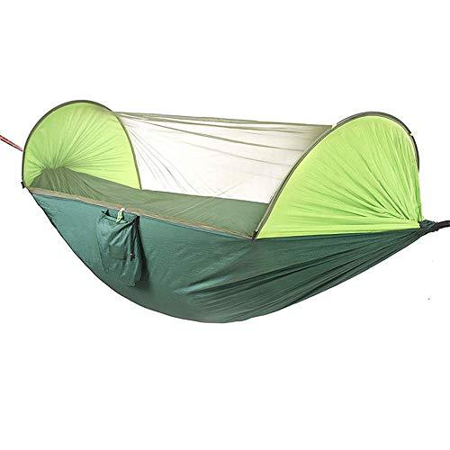 BU-SOH Hamaca Hamaca for Acampar al Aire Libre Hamaca Doble de Tela paracaídas Que acampa Apertura rápida automática con Hamaca mosquitera para el Aire Libre Montañismo Viajes con Mochila